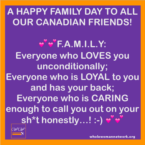 HAPPY FAMILY DAY Whole WoMan Network