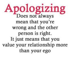 Apologizing
