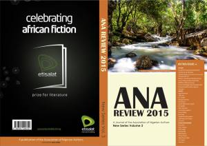 ANA Literary Review Journal 2015 by Richard Ali