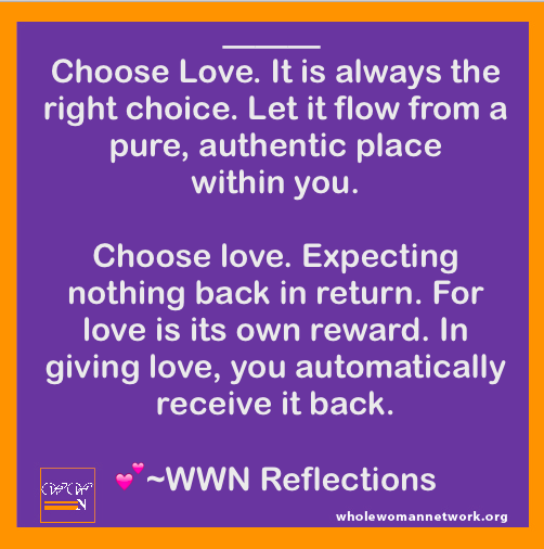 Choose Love. Reflections by JulietKego