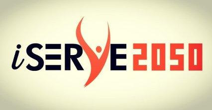 iSERVE2050 Golden Logo Twitter
